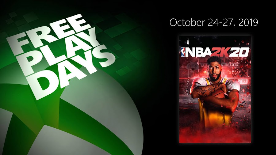 nba 2k20 xbox live gold free play days event xb1 visual concepts 2k games