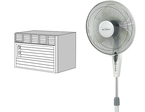 You can save a lot in electric bill if you use air-con with fan guaranteed
