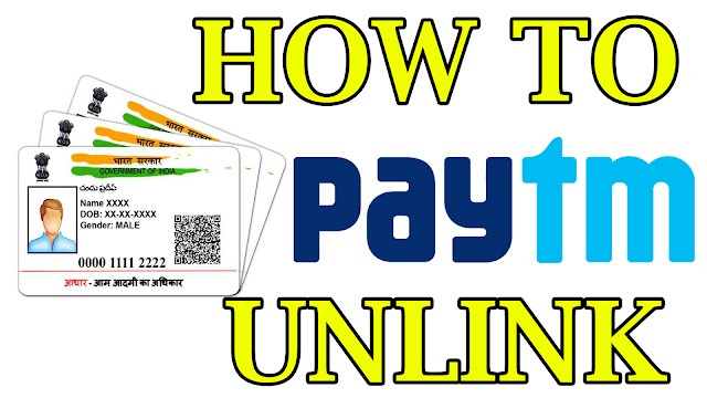 how to unlink the Aadhaar card from the Paytm account