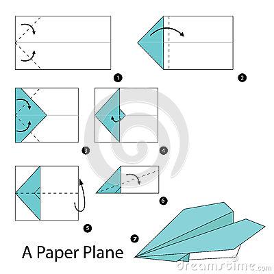 Diagramas de avIones de papiroflexia