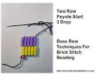 Click the image to view the Two Row or Peyote Start brick stitch base row beading tutorial.