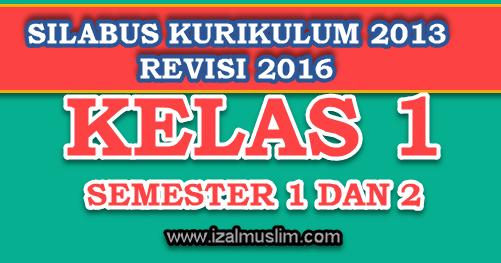 Silabus Tematik Terpadu Kelas 1 Semester 1 Dan 2 Kurikulum 2013 Revisi 2016 Dokumen Kurikulum 2013 Revisi Terbaru
