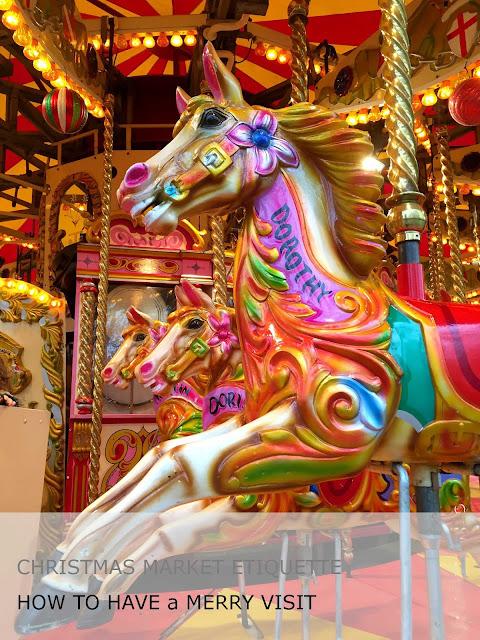 Merry go round horses dorothy Christmas market