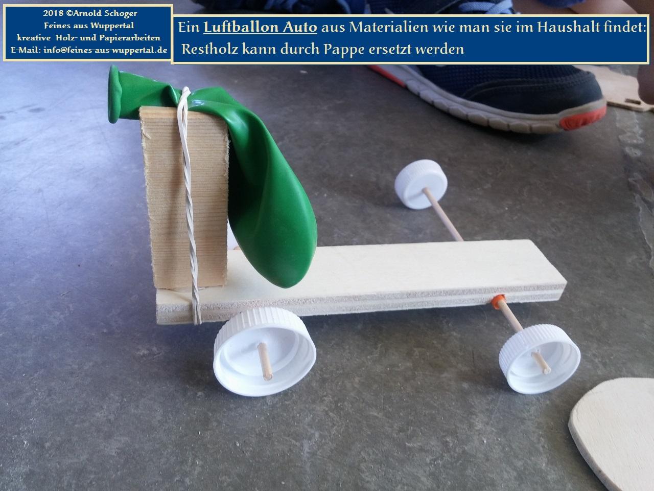 Ein sehr einfaches Luftballon Auto selber bauen   Laubsägen und ...