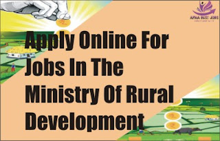 Apply Online For Jobs In The Ministry Of Rural Development