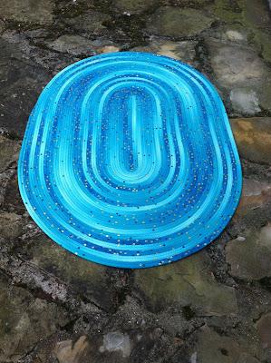 Jelly Roll Rug, confetti ombre