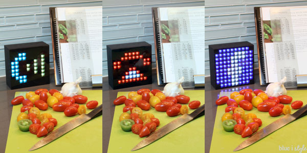 AuraBox notifications on LED screen