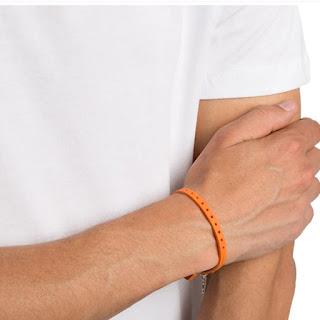 pulseira masculina laranja