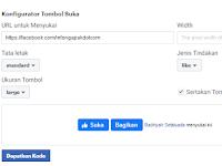 Cara menambahkan tombol Fanspage  suka facebook pada blog paling gampang