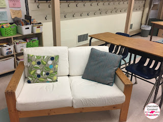 flexible seating in the upper elementary classroom