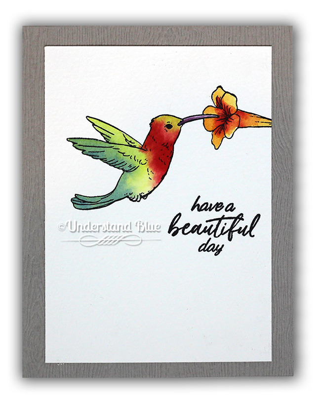 Watercolor Hummingbird by Understand Blue