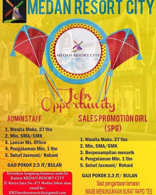 Lowongan Kerja Medan Juni 2021 Lulusan SMA SMK Resort City
