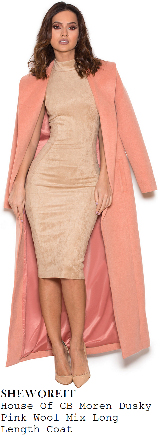 karrueche-tran-peach-pink-shawl-collar-long-sleeve-house-of-cb-maxi-coat