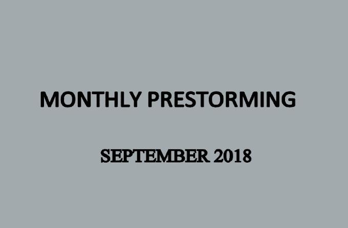 UPSC Monthly Prestorming - September 2018 - Download pdf