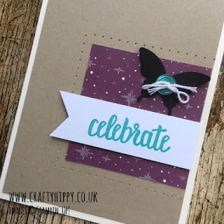 How to create a card using the Amazing You stamp set, Elegant Butterfly Punch and Myths & Magic DSP from Stampin' Up!