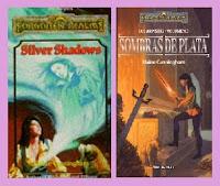 portadas de la novela de fantasía Sombras de plata, de Elaine Cunningham