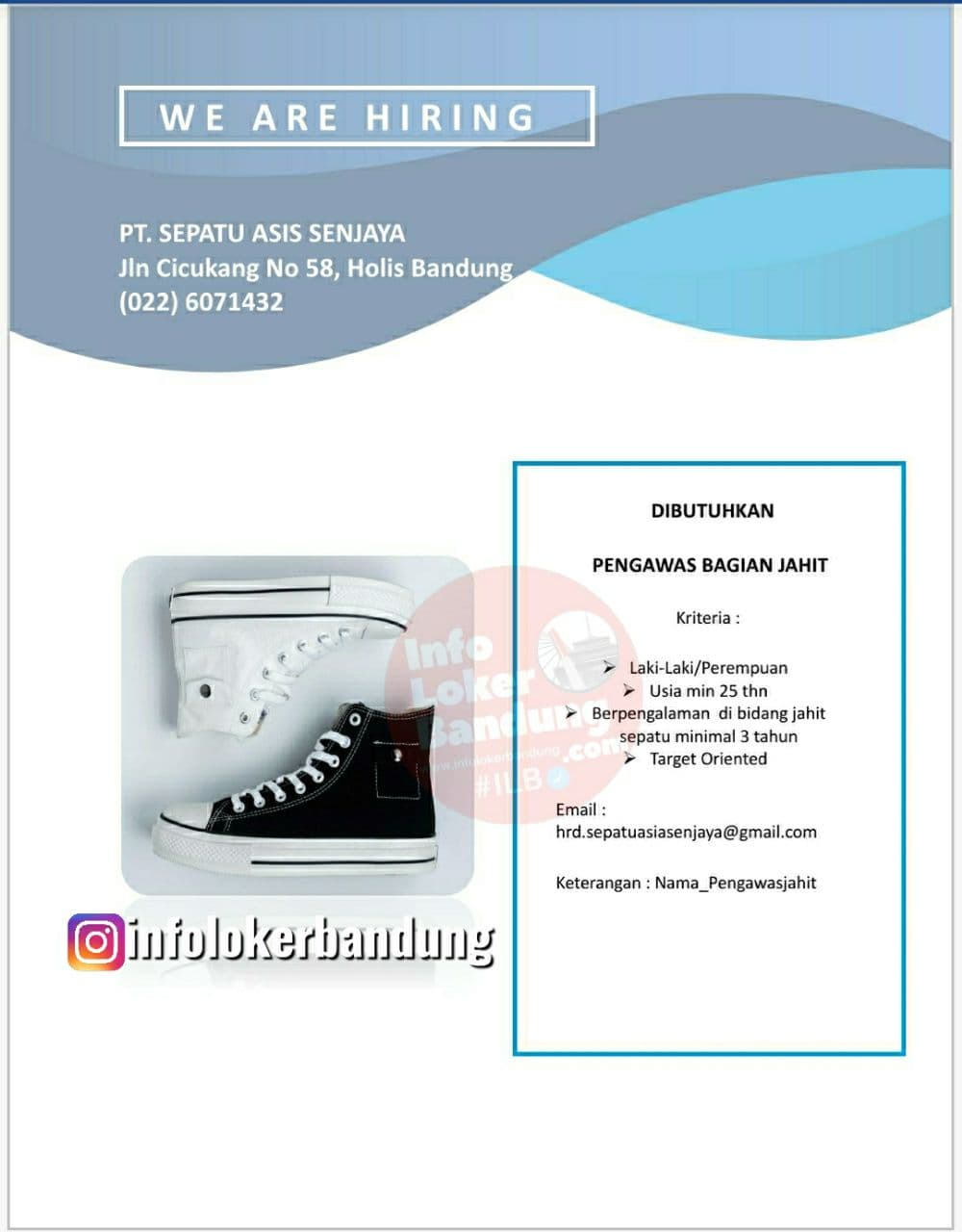 Lowongan Kerja PT. Sepatu Asia Senjaya Bandung Agustus 2021