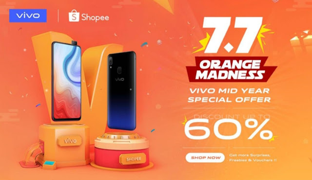 GET YOUR VIVO SMARTPHONES FOR UP TO  60% OFF ON SHOPPEE FROM NOW TILL 7 JULY 2019