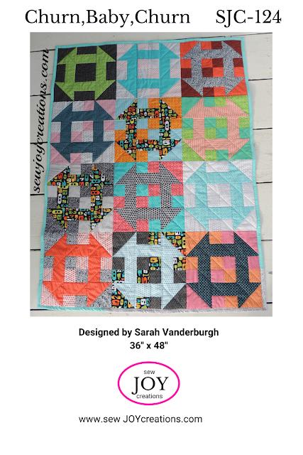 Churn Baby Churn baby quilt pattern Sew Joy Creations Sarah Vanderburgh