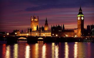 A photograph taken of London City.