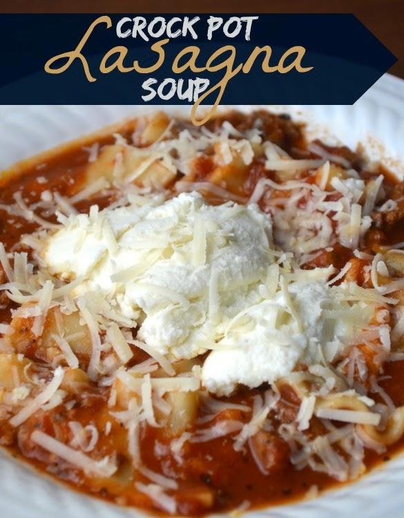 a latte with ott a crock pot lasagna soup
