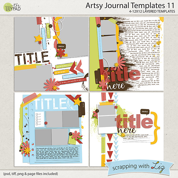 http://the-lilypad.com/store/Artsy-Journal-11-Digital-Scrapbook-Templates.html