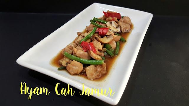 Ayam cah Jamur, resep masakan Indonesia by amalia virshania