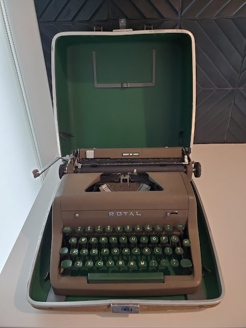 The typewriter owned by Michael Augustine Olivas
