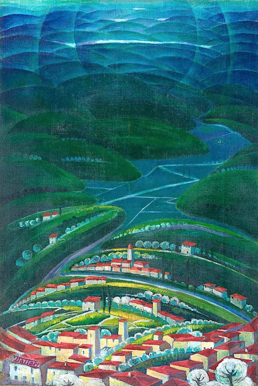 a Gerardo Dottori futurism landscape