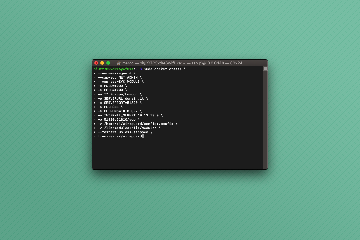 Come installare WireGuard con Docker