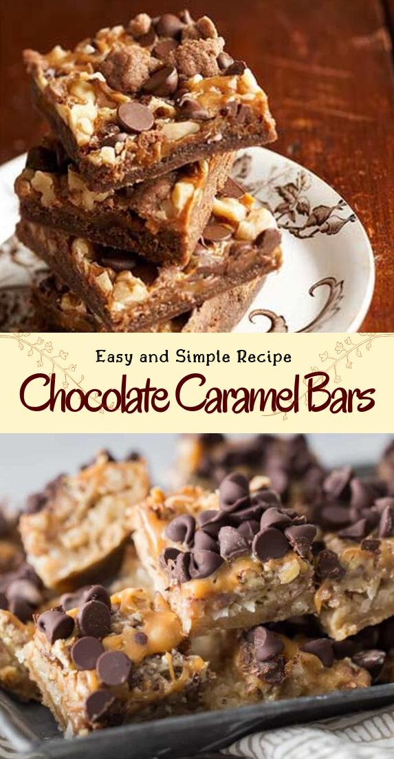 Chocolate Caramel Bars #desserts #cakerecipe #chocolate #fingerfood #easy
