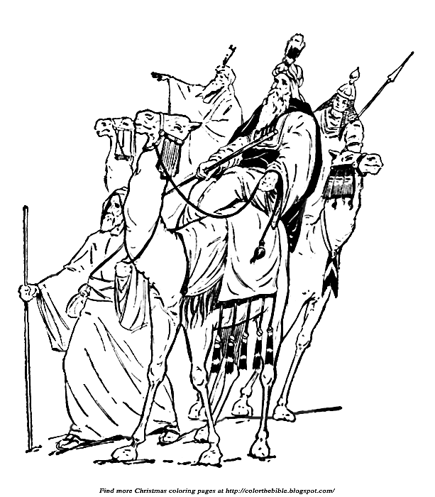 bible coloring pages wise men - photo#4
