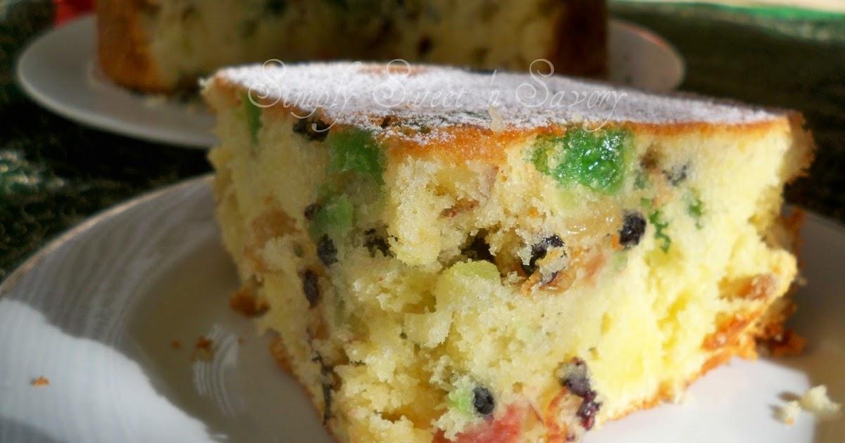 Light Fruit Cake Recipe Joy Of Baking: Simply Sweet 'n Savory: Light Fruit Cake