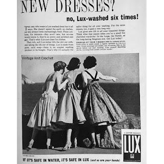 Vintage 1957 Lux Detergent Advertisement