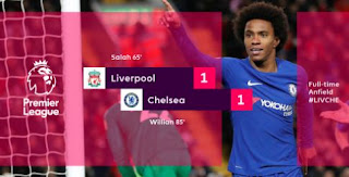 Liverpool vs Chelsea Imbang 1-1
