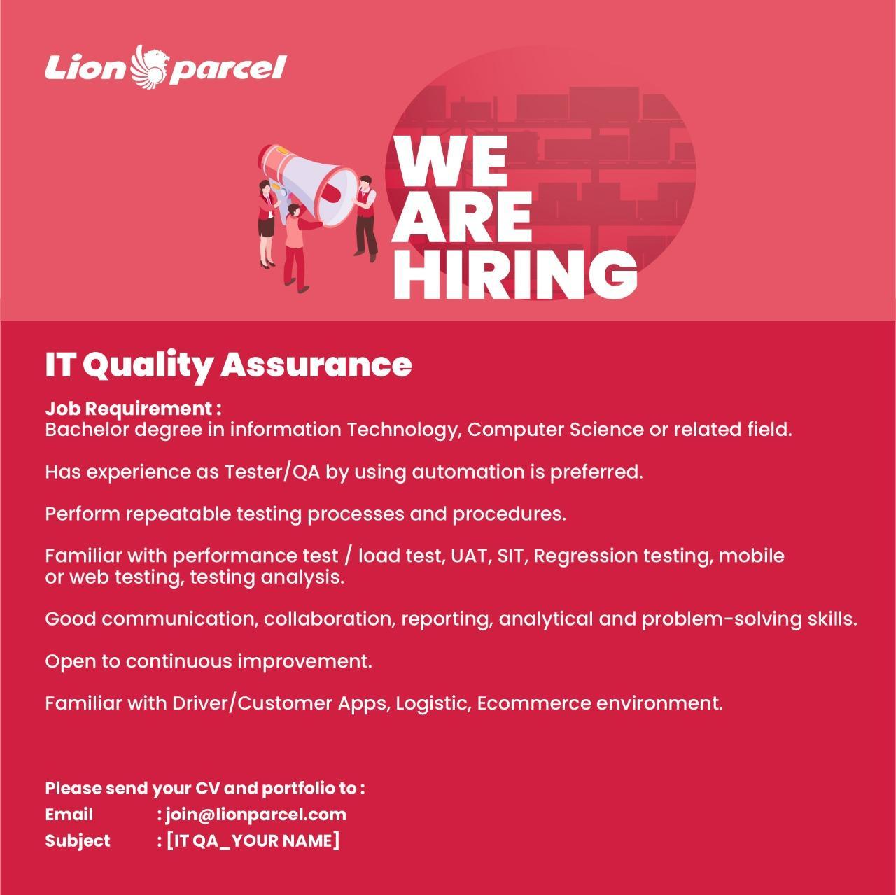 Lowongan Kerja Lion Parcel (Lion Group) Tahun 2020