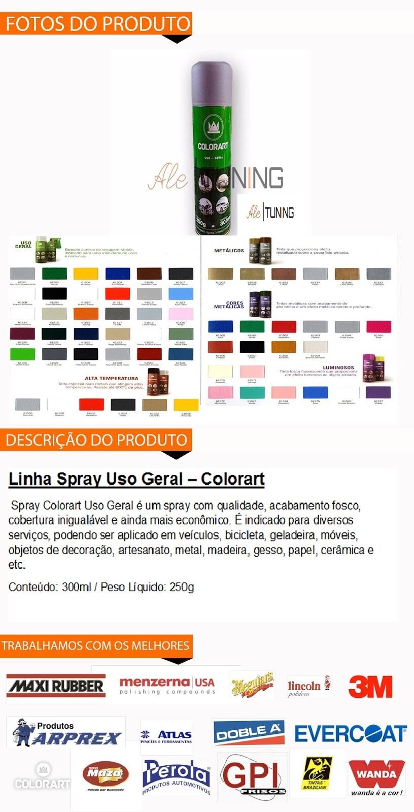 Tinta Spray Automotivo Primer Cinza - Colorart Uso Geral em Diadema