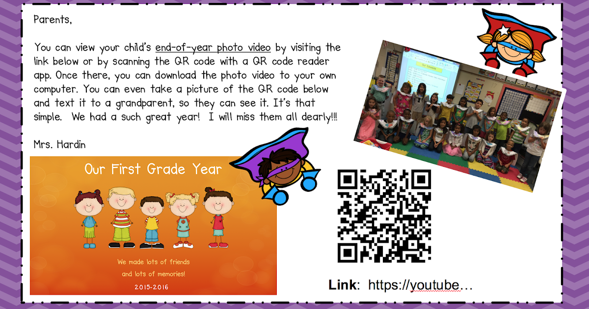 1st Grade Grapevine: End of Year Photo Video