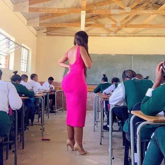 Female intern in Mwea. FILE