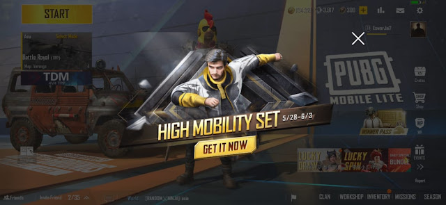 How to get High Mobility set in PUBG Mobile Lite