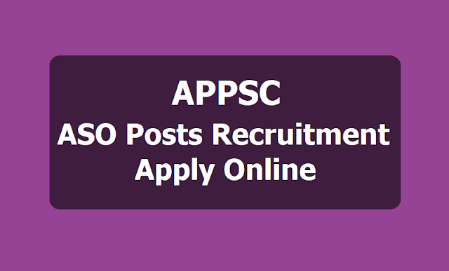APPSC ASO Assistant  Statistical Officers