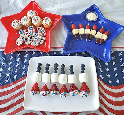 Patriotic Fun Food and Ranch Dressing Recipe