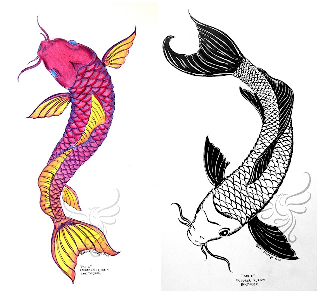 koi ink drawings keri luiz concord art association
