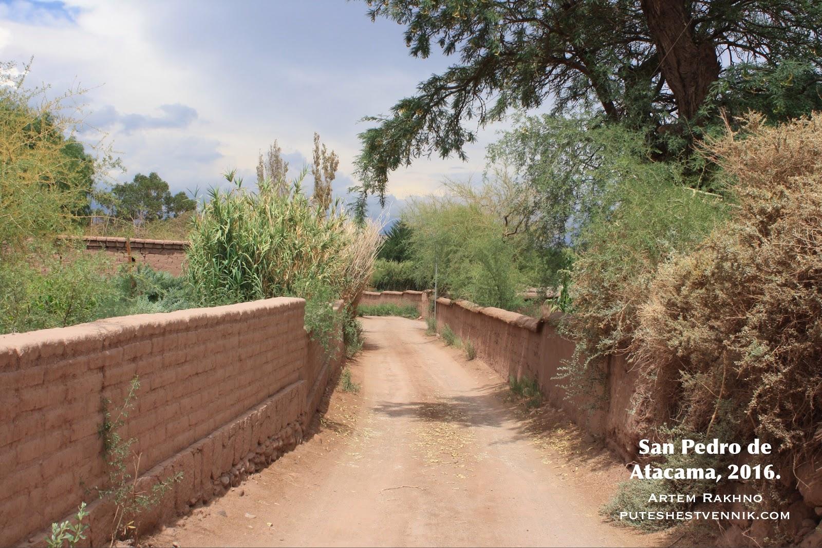 Проселочная дорога в Сан-Педро-де-Атакама