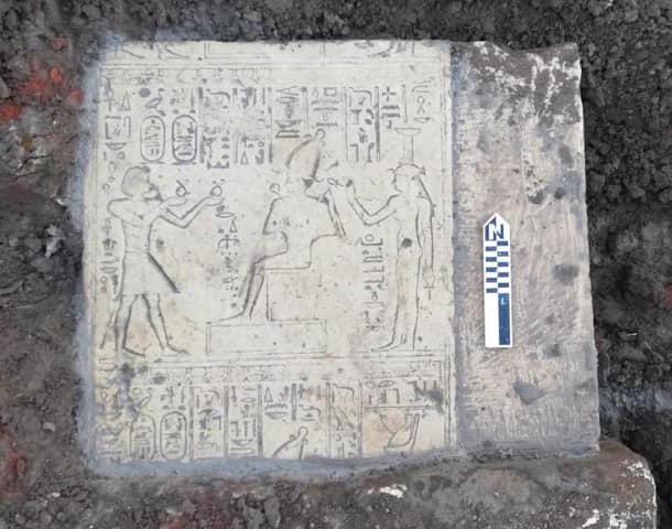 Ptolemaic limestone blocks unearthed in Sohag