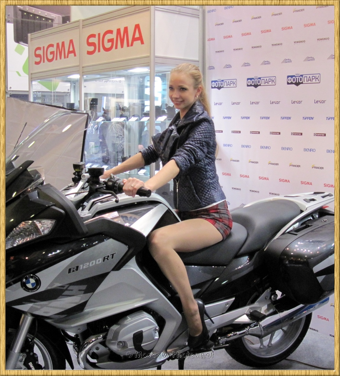 Russian Model Posing On Motor Bike