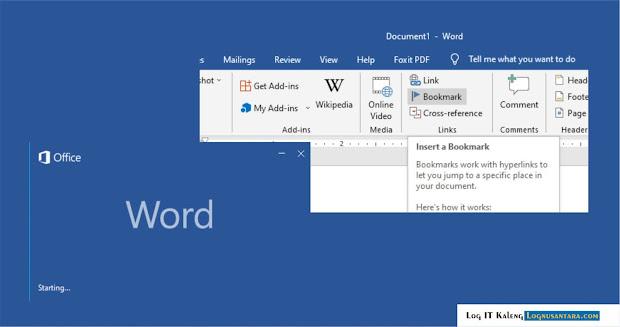 Cara Membuat Bookmark di Microsoft Word
