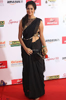 Sindhu looks fabulous in Black Saree designer choli at Mirchi Music Awards South 2017 ~  Exclusive Celebrities Galleries 068.JPG