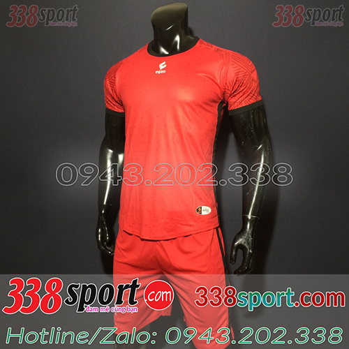 Áo Bóng Đá Không Logo Đẹp Egan Weres SDD03 Đỏ