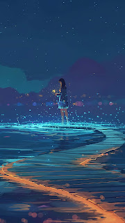 Lake Path Anime Girl Mobile HD Wallpaper